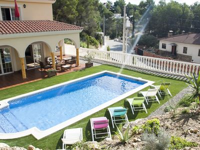 Photo for Near Sitges Beautiful Villa for families, Airco, Private Pool,Garden, Free Wi