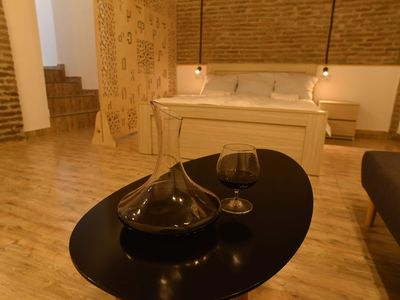Photo for Wine underground style appartment in the oldest town