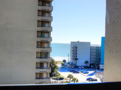 Beautiful ocean views in northern Myrtle Beach near many local attractions!