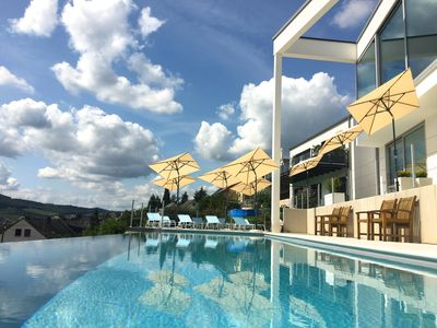 Photo for Luxury winery Aparthotel Olinger Mehring / Mosel with infinity pool 4stars Mosel