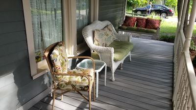 Choose the swing or the love seat or come out solo.  Enjoy the new front porch.