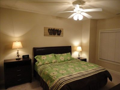 Spacious Master Bedroom -King bed, golf course view, flat screen TV/DVD, mp3/iPo