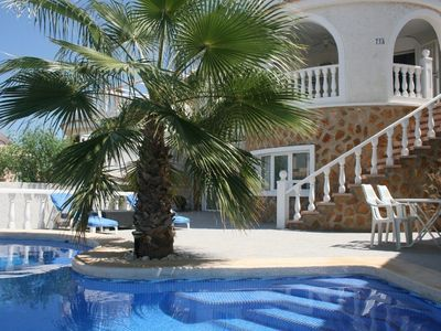 Photo for Luxurious villa, close to the beach, suitable for 2 families