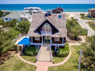 Photo for Nantucket Charm | 280 ft from the Beach | Private Pool