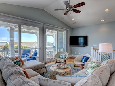 Photo for Ocean View Elevator Luxury Home Kure Beach:  Across from Beach, Private POOL