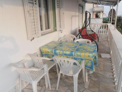 Photo for Two bedroom apartment with terrace and sea view Sveti Petar, Biograd (A-3251-b)