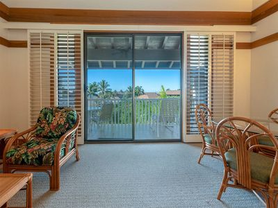 Photo for Poipu Sun+Style! Kitchen, Lanai, WiFi, Flat Screen, DVD+Ceiling Fans–Kiahuna 2315