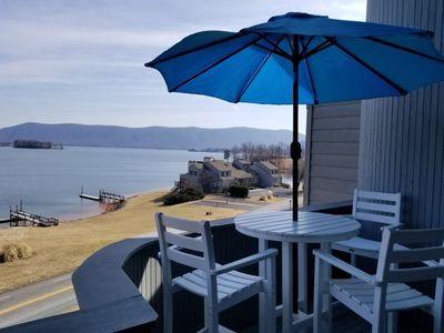 Photo for Gorgeous 3 bedroom 3 bath condo in Bernard`s Landing with beautiful water views!