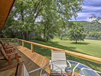 Photo for Pet-Friendly Cabin w/Deck - Steps to White River!