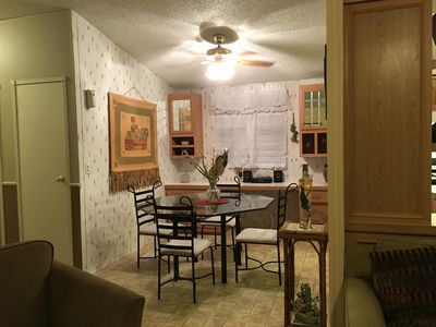 Dining area next to kitchen