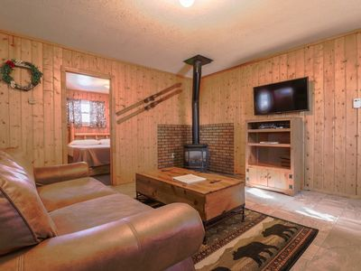 Photo for Dog-friendly cabin w/ private hot tub & yard -  ideal for hiking & skiing