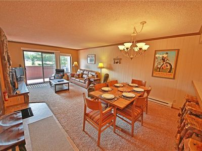 Photo for Soothing condo on free shuttle route with covered porch and impressive amenities