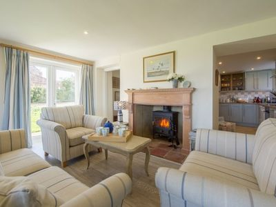 Photo for A spacious cottage with stunning views over the saltmarshes at Brancaster Staithe.