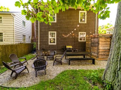 "Photo for ""Camp"" out near downtown Portland w/outdoor patio, fire pit & outdoor shower!"