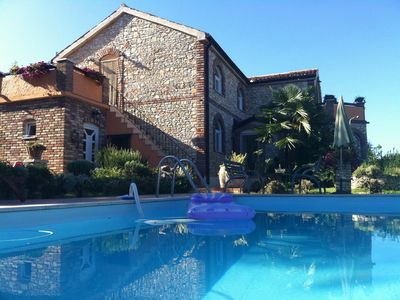 Photo for Villa Lucia with tennis court, pool, 400m from the beach, INTERNET, pets welcome