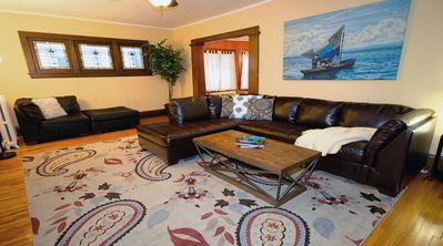 Plenty of room to relax or having company in this comfortable living room.