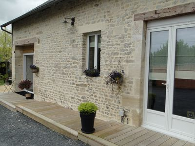 Photo for 1BR Cottage Vacation Rental in Nonant, Normandie