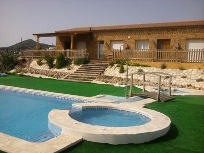 Photo for Country house in the Sierra de Bédar with swimming pools and jacuzzi