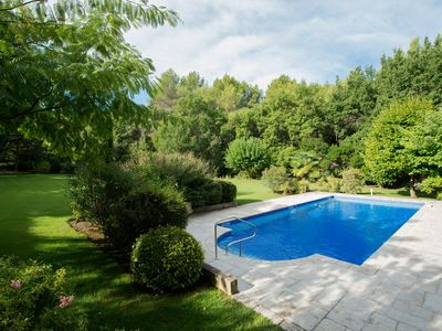 Photo for Spacious villa in superb gardens in one of France's prettiest villages