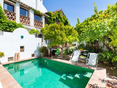 Photo for Traditional rustic house with pool and garden
