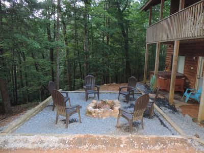 Fire Pit & Hot Tub on lower back deck 5 'clock Somewhere