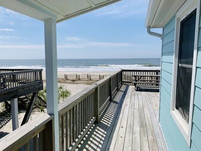 Oceanfront cottage directly on beach & Atlantic Ocean. Very short walk 2 water.