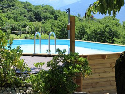 Photo for typical Rustico with a lovely garden overlooking Lake Como Pool