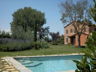 Photo for Farmhouse with private pool south of Siena, perfect for 6 or 10 people!