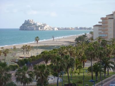Photo for sunny apartment on the beachfront, beautiful castle and bay views