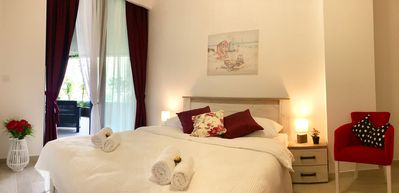 Photo for Wine One bedroom Apartment, City centre near old town Budva, sea view