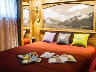 Photo for Luxury Chalet with private Spa - Sauna and Jacuzzi with Matterhorn view -