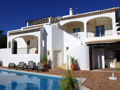 Photo for Spacious, private villa with spectacular views, gardens and pool