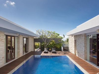 Photo for Three-bedrooms private villa with Sea view in Nusa Dua