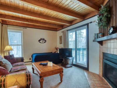 Photo for Convenient condo with shared pool, hot tub, & sauna - near lake & slopes!