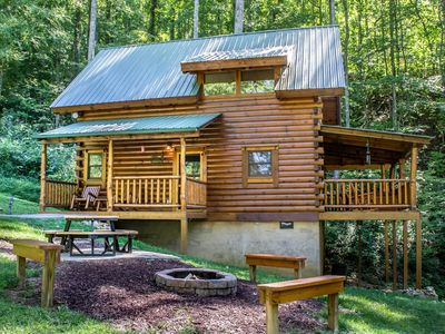 Photo for Cozy but spacious cabin perfect for a getaway to the Smokies