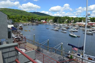 The inner harbor view toward Mt. Battie