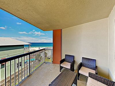Balcony - Take in Gulf views from the private balcony, equipped with seating for 6.