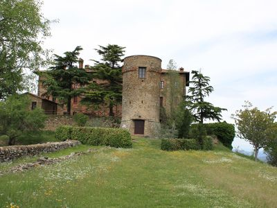Photo for Castle on Lake Trasimeno, between history and relax, swimming pool in the green, animals yes