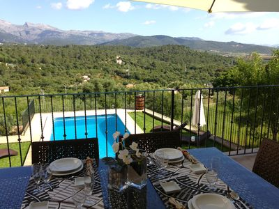 Photo for Large village house for 12 people in Buger with pool and panoramic views