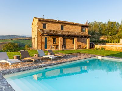 Photo for Casa Pace e Gioia - Restored country home w/ private pool, amazing views