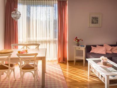 Photo for well-kept apartment, swimming pool, sauna, free Wi-Fi, beach chair