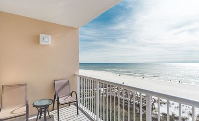 Photo for New Listing! Lovely gulf front condo w/ awesome ocean views! 4 pools, free WiFi!