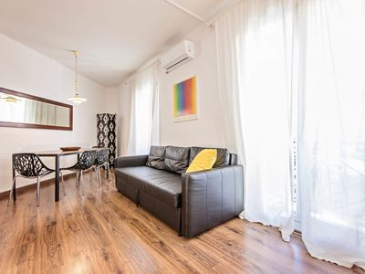 Photo for Comte Urgell - One Bedroom Apartment, Sleeps 4