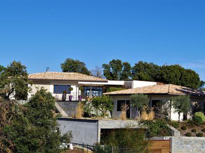 Photo for Superb Architect's Villa near the Golf & Esterel Mountains