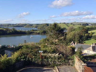 Photo for Dittisham cottage with direct views over river Dart in the heart of the village.