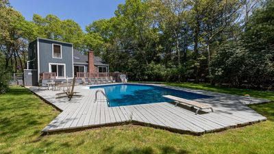 Photo for East Hampton Tranquility in the Trees w/ Private Pool, Open-Concept Layout, Poolside Lounging