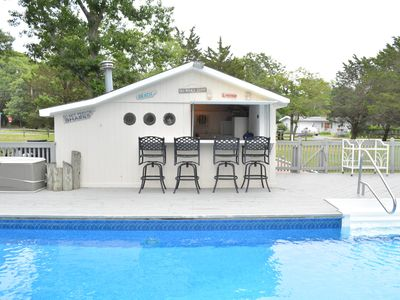Photo for Beautifully appointed  waterfront property with heated pool and cabana