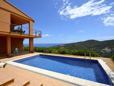 Photo for Newly constructed, contemporary style villa, near Begur on the Costa Brava - sea views, 1,