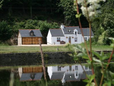 Photo for Riverside holiday cottage to rent in Brittany