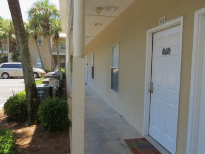 Photo for 1 bed/1 bath Condo- across the street from the beach- Snowbird rates available
